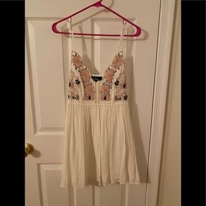 White embroidered Lulus dress